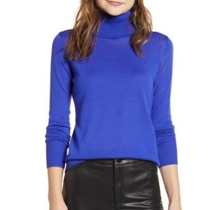 Halogen Turtleneck Merino Wool Blend Sweater XL